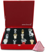 Anno Dominii Modish Watch Box(Red Holds 12 Watches)