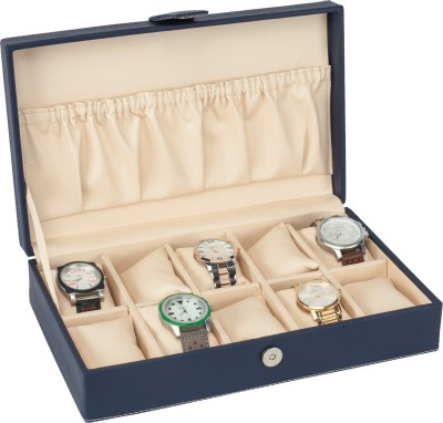 D,SIGNER Blu Watch Organizer Watch Box