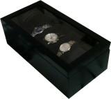 SLK Wooden Watch Box (Black, Holds 3 Wat...