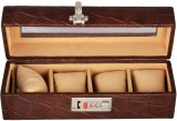 Laveri Watch Box (Brown, Holds 4 Watches...