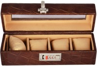 Laveri Watch Box(Brown Holds 4 Watches)