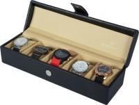 Dsigner Watch Box(Black Beige Holds 5 Watches)