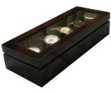 SLK Wooden Watch Box (Black, Holds 5 Wat...