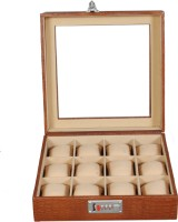 Laveri Leather WB GT 12 Watch Box(Brown Beige Holds 12 Watches)