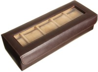 Valley leather Watch Box(Brown, Holds 5 Watches)