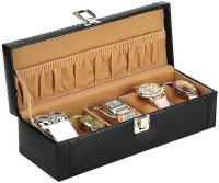 Valley leather Watch Box(Black, Holds 5 Watches)