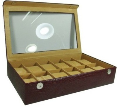 Shopkhalifa Brand Protection Cases for watches 12 Slots Watch Box