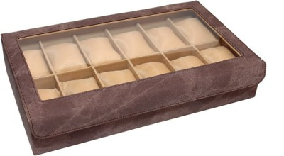 Essart Watch Organiser Watch Box(Brown, Holds 12 Watches)