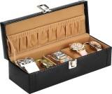 The Runner Solid Watch Box (Black, Beige...
