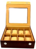 Laveri Watch Box Watch Box(Brown, Holds 8 Watches)