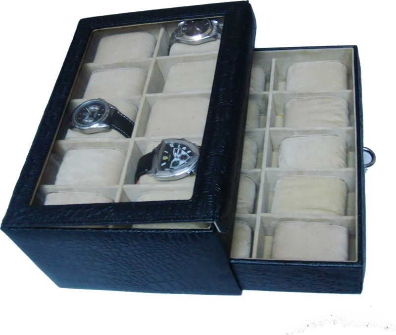 Essart Protection Case for watches Watch Box(Black, Holds 20 Watches)