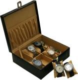 Borse BWC005 Watch Box (Black, Holds 6 W...