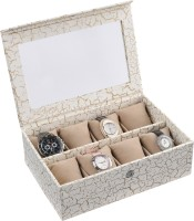 Ecoleatherette Deco Watch Box(Multicolour Holds 8 Watches)