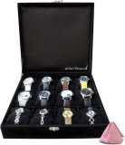 Anno Dominii Watch Box (Black, Holds 12 ...
