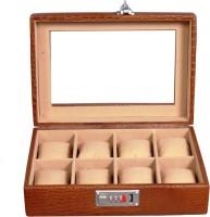 Laveri WB 8 GT Watch Box(Brown Beige Holds 8 Watches)