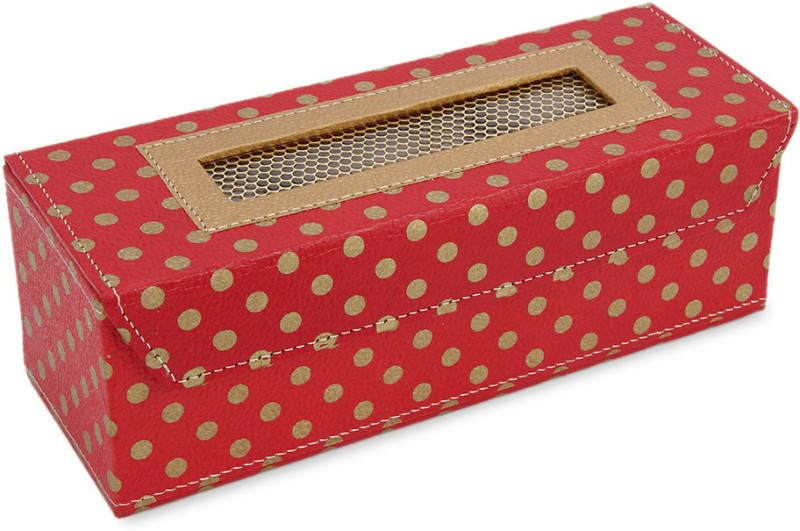 Ecopro Polka Watch Box(Red, Holds 3 Watches)