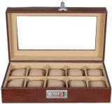 Laveri Leather WB GT 10 Watch Box (Brown...