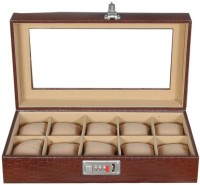Laveri Leather WB GT 10 Watch Box(Brown Beige Holds 10 Watches)