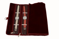 K&P Payal Cover Watch Box(Maroon, Holds 7 Watches)