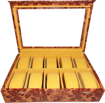 Atorakushon Watch Storage Watch Box(Multicolor, Holds 10 Watches)