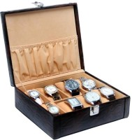 Borse WC005 Watch Box(Brown, Holds 8 Watches)