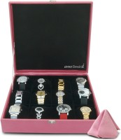 Anno Dominii Watch Box(Pink Holds 12 Watches)