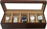 SLK Wooden (Walnut) Watch Box (Brown, Ho...