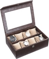 Ecoleatherette Handcrafted Watch Box(Multicolour Holds 8 Watches)