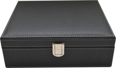 Knott Watch case/Box Watch Box(Black, Holds 8 Watches)