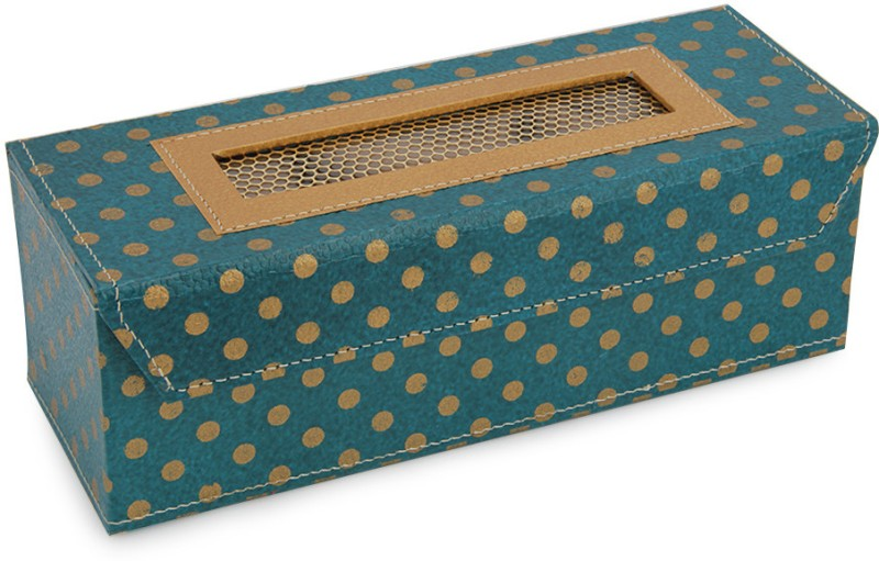 Ecopro Polka Watch Box(Blue, Holds 3 Watches)