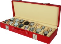 Dsigner Watch Box(Red Beige Holds 16 Watches)