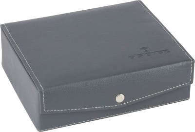 D,SIGNER Grey Watch Organizer Watch Box