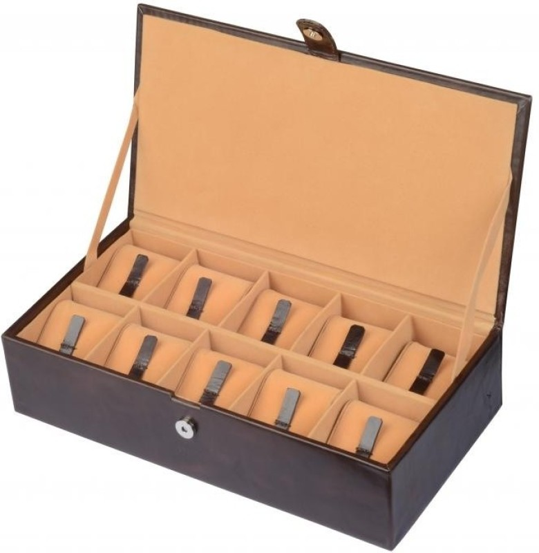 Ystore YWAB4BR Watch Box(Brown, Holds 10 Watches)