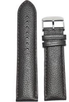 Kolet Matte Finish Dotted 24BR 24 mm Leather Watch Strap(Brown)