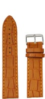 Kolet Croco Matte Finish 24` 24 mm Leather Watch Strap(Tan)