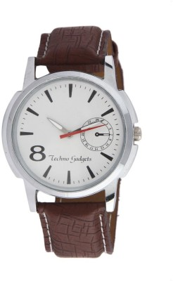 Techno Gadgets Watch 004 25 mm Leather Watch Strap(White)