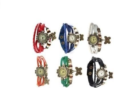 designculture vinatge blue 18 mm leather Watch Strap