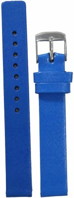 Like Glossy Finish 14 mm Leather Watch Strap