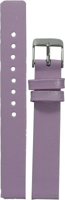 Like Glossy Finish LPU 14 mm Leather Watch Strap