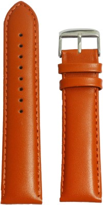 Like Plain Padded 22 mm Leather Watch Strap