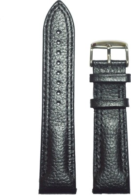 Like Dotted Double Stitched 22 mm Leather Watch Strap