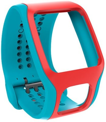TomTom Comfort Band - Cardio Turquoise Red 35 mm Silicone Rubber  Watch Strap