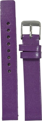 Like Glossy Finish PU 14 mm Leather Watch Strap