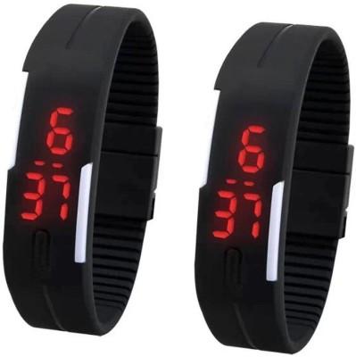 Adino Sport Touch Watch 2 Set 22 mm PU Watch Strap