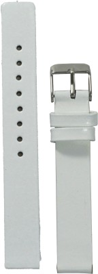 Like Glossy Finish W 14 mm Leather Watch Strap