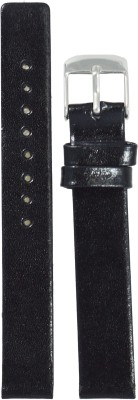 Like Glossy Finish B 14 mm Leather Watch Strap