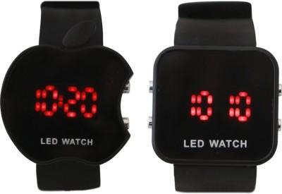 ADINO Apple Puch Combo Small Big 22 mm PU Watch Strap