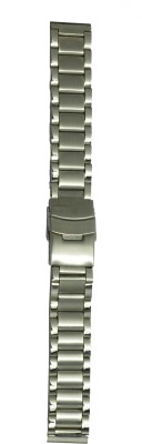 Like Two Tone Solid 22 mm Stainless Steel Watch Strap