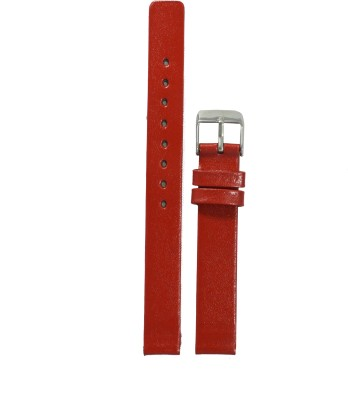 Like Glossy Finish R 14 mm Leather Watch Strap