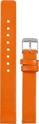 Like Glossy Finish O 14 mm Leather Watch Strap
